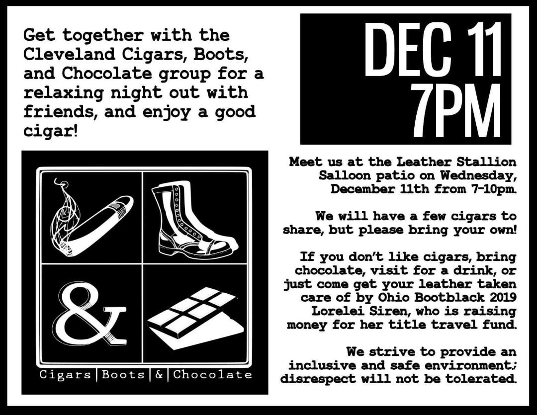 Cleveland Cigars, Boots and Chocolate